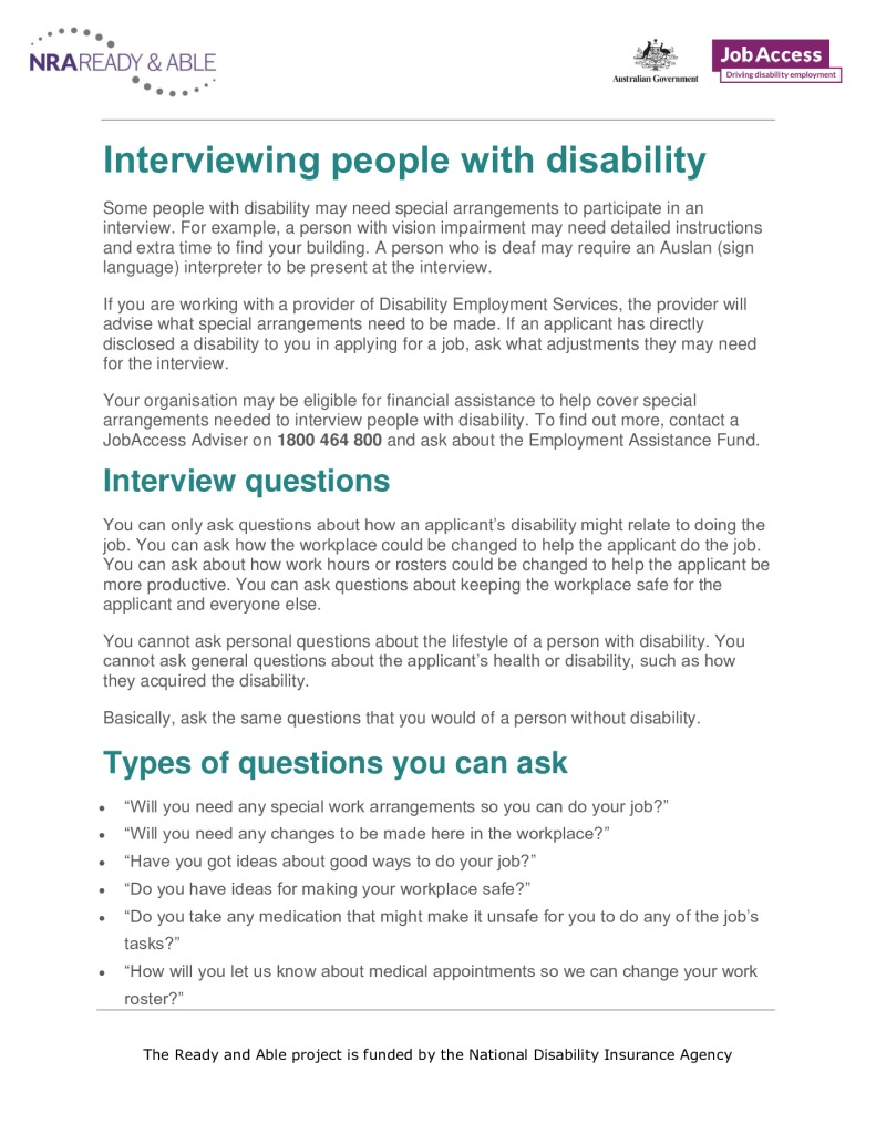 thumbnail of 10. Interviewing people with a disability