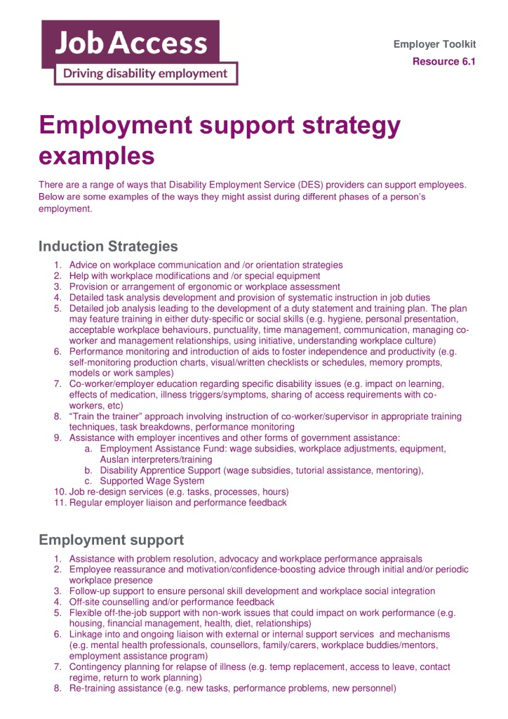 thumbnail of 14. Employment support strategy examples