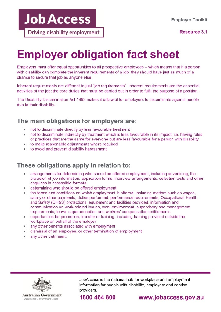 thumbnail of 3. Employer obligation fact sheet