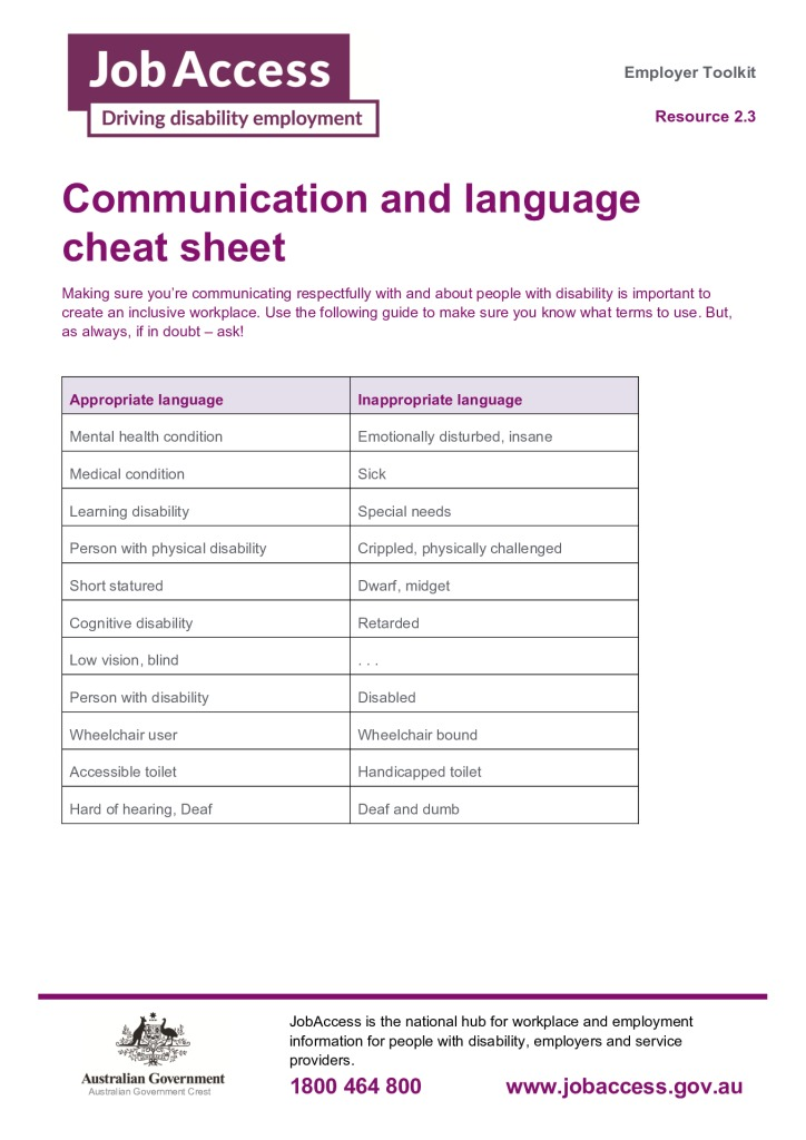 thumbnail of 4. Communication and language cheat sheet