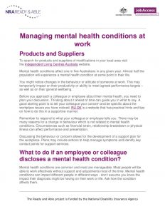 thumbnail of 6. Managing mental health conditions as work