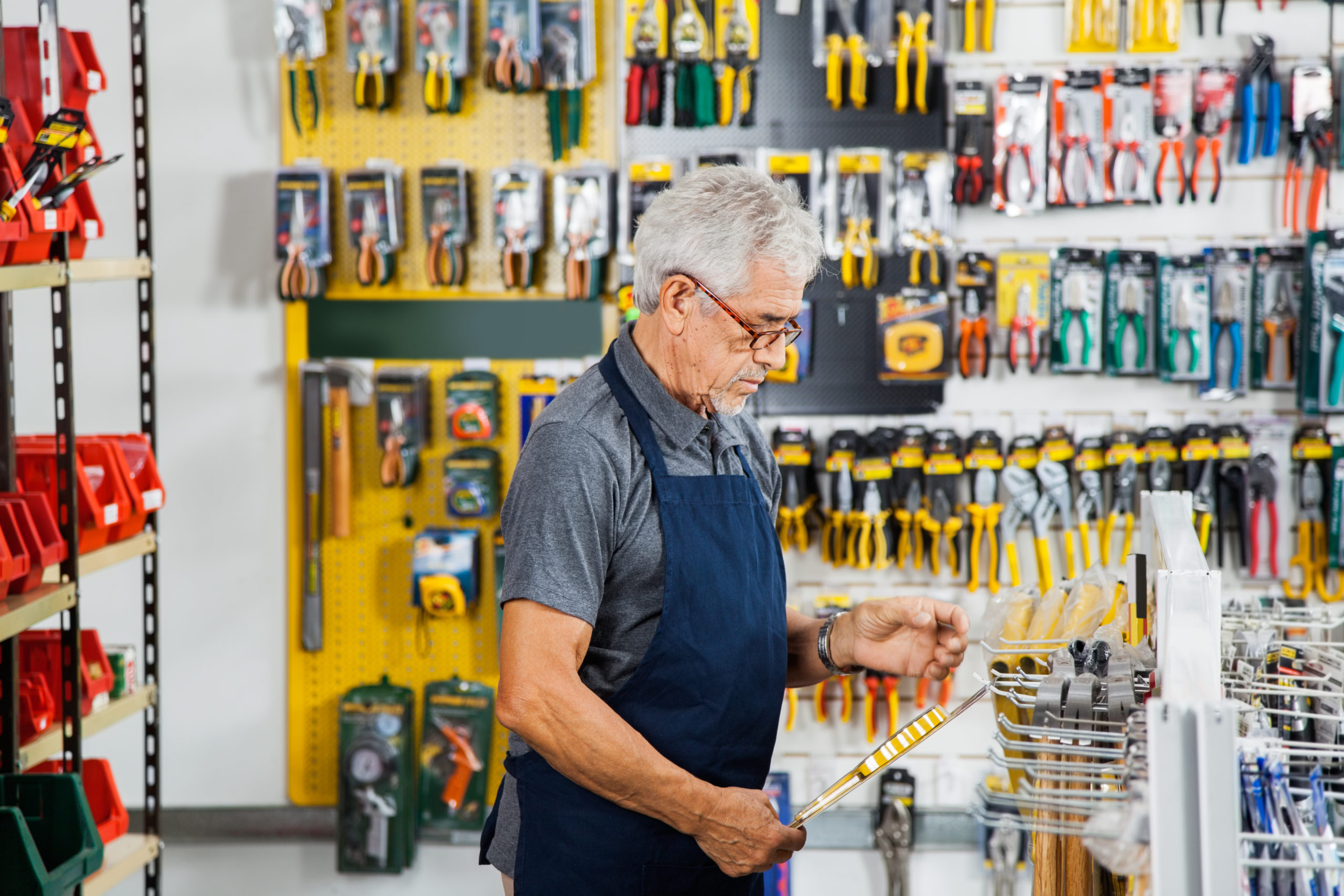 Hardware stores sell to households, businesses and tradespeople